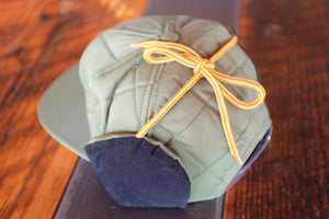 Quilted Ear Flap Leather Patch Hats