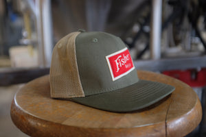 High Crown Mesh Trucker w/ Red Felt Patch