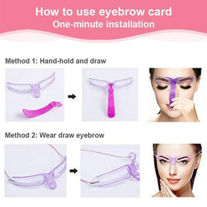 8 Shapes Eyebrow Stencil