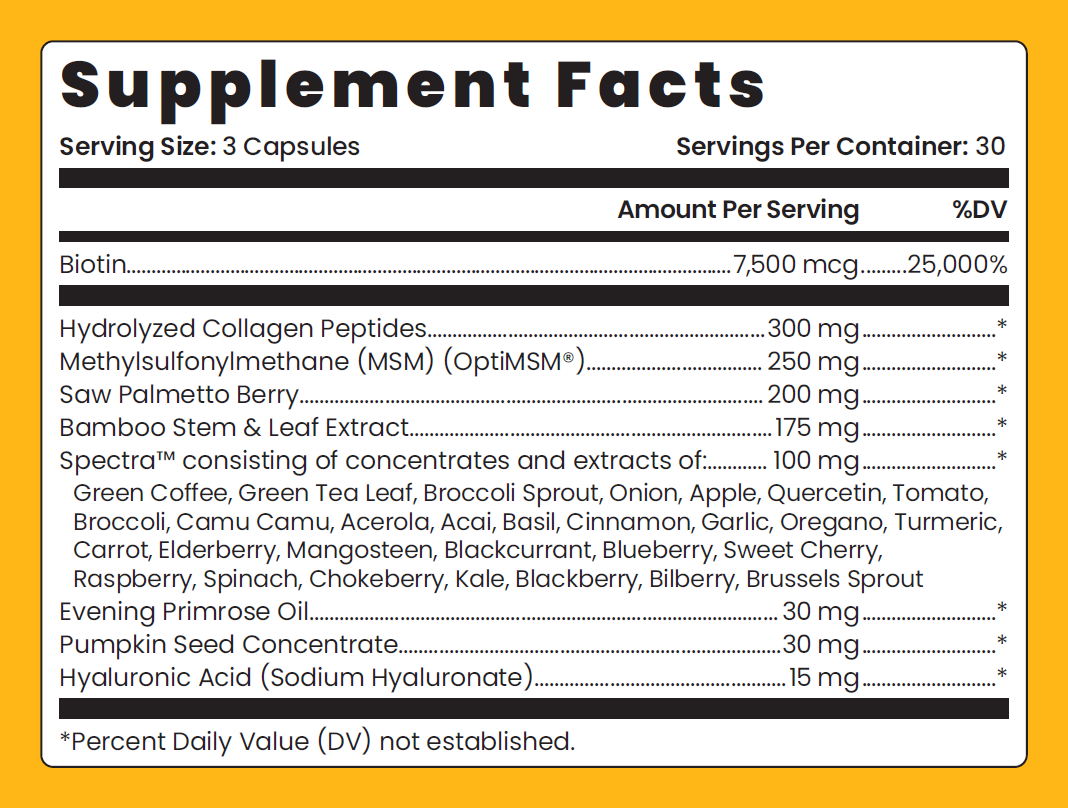 Glow Supplement Facts