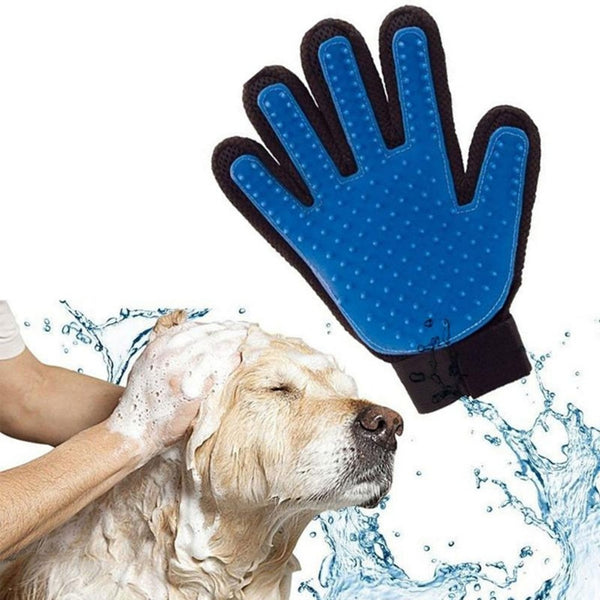 Deshedding Brush Glove For Animal Cat Supplies Pet Gloves Hair Comb Finger Glove For Cat Grooming Supplies Pet Cleaning