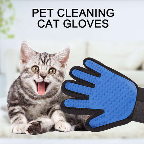 Pet Cat Glove For Animal Comb Cat Grooming Supply Cleaning Glove Deshedding Right Hand Hair Removal Brush Finger Touch Glove