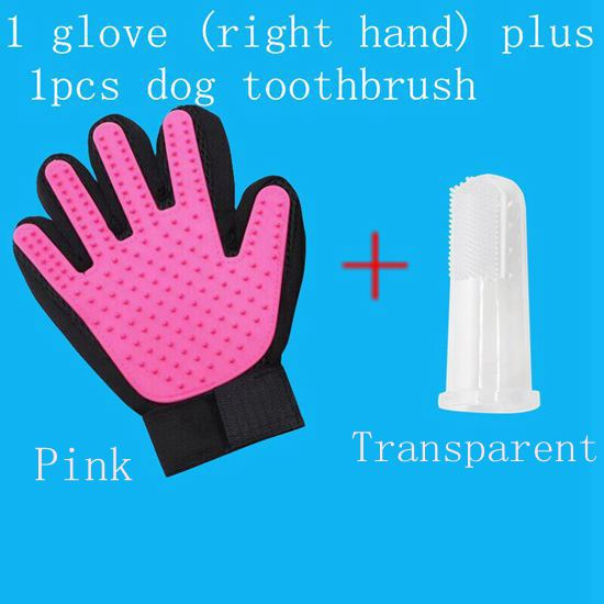 Cat Gloves Cat Grooming Cat Gloves Beauty Gloves Pet Dog Brush finger Gloves Gentle And Efficient Pet Dog Silicone