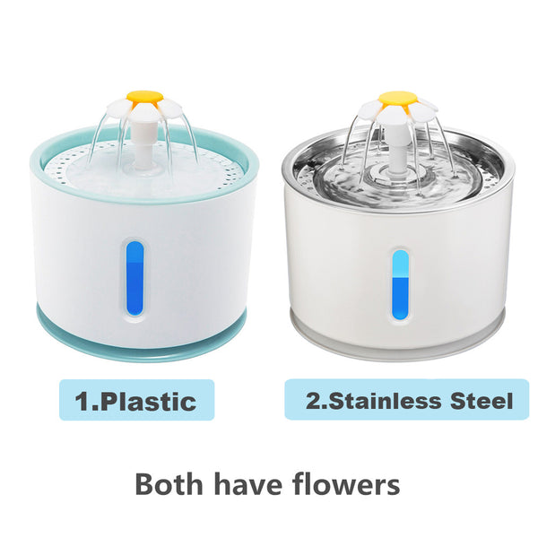 Automatic Cat Fountain Pet Drinking Water Dispenser Electric LED Dog Pet Drinking Fountain Drinking Bowl Cat Feeder Drink Filter
