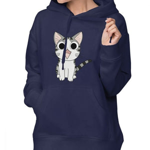 Japanese Cat Hoodie Chi The Cat Hoodies Cotton White Hoodies Women Trendy Over Sized Graphic Long Sleeve Pullover Hoodie