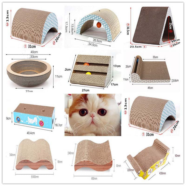 13 Shape Cats Scratcher Lounge Handmade Kitten Scratcher Scratching Post Interactive Corrugated Paper Toy For Pet Cat Training