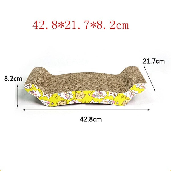 Catnip Cat Scratcher Kitten Scratch Pad Corrugated Paper Scratch Board For Kittens Cat Scratching Pet Products Balls Toys LY0009