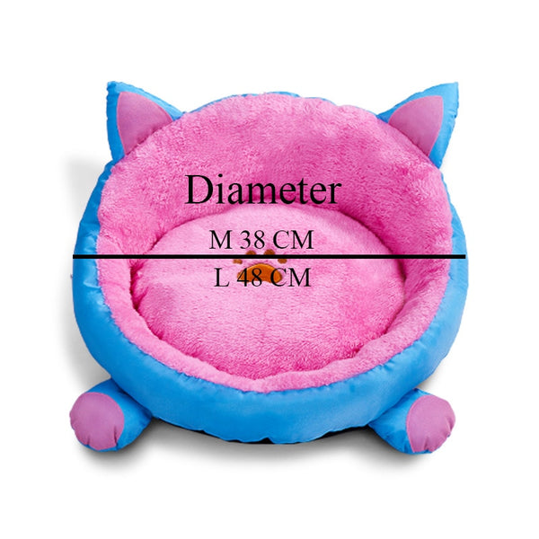 New Arrival Cat Warm Bed Velvet Comfortable Ear shape kennel For Puppy cama gato Lovely Soft Cat Cave House For Cat