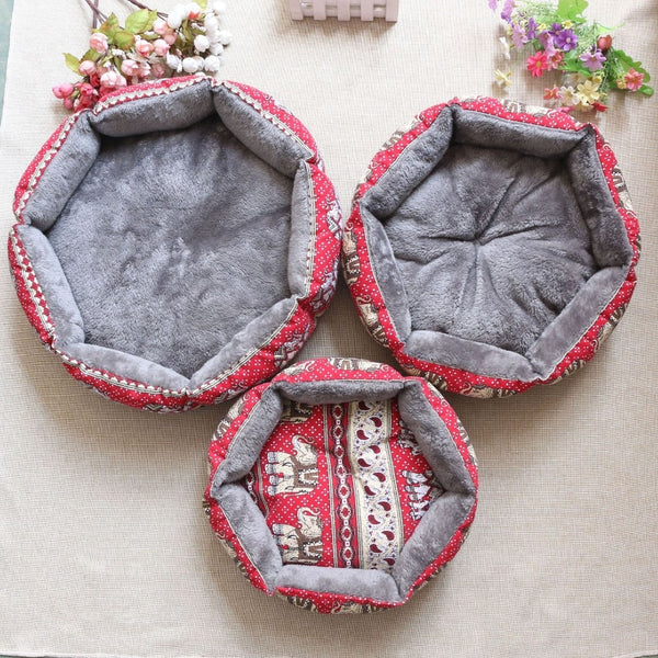 Pet Dog Round Beds Puppy Couch Cute 3 Pattern Soft Sofa Dog House Nests Kennel Mat for Chihuahua Small Dog Cat Beds Pet Products