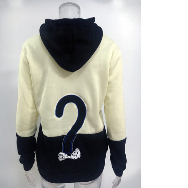 Cartoon Cat Applique Lovely Hoodies Harajuku Women Autumn Winter Warm Patchwork Drawstring Sweatshirt Poleron Mujer Ey*