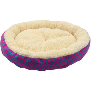 Warm Cat Bed House Round Bed Fodable Dog Sleeping Mat Pad Nest Kennel Pet Cushion Puppy Nest Shell Hiding Burger Bun for Winter