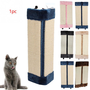 50x23cm Cat Scratches Board Pet Kitten Wall Corner Scratching Mat Post Tree Scratcher Sisal Hemp Kitty Pet Plush Flying Toys