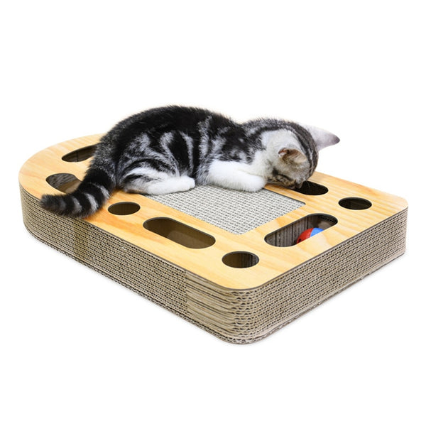 CAWAYI KENNEL Pet Cat Paper Scraper Board Kitten Scratching Post For Cats Scratcher rascador gato drapak dla kota grattoir chat