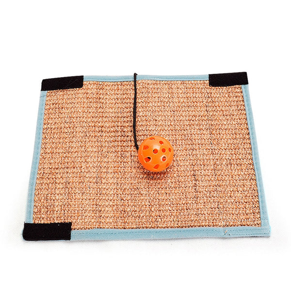 Sisal Chair Foot Protector Furniture Carpet Pad With Bell Ball Anti-claw Mat Pet Supplies Cat Scratcher