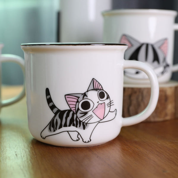 Super Cute Cat Animal Cartoon Coffee Cup Kitten Milk Mug Creative Ceramic Tea Mugs Breakfast Drinkware Novelty Nice Gifts