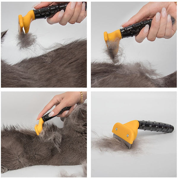 Hot Sale Pet furmins Hair Removal Comb Dog Short Medium Hair Brush Handle Beauty Brush Accessories Comb For Cats Grooming Tool