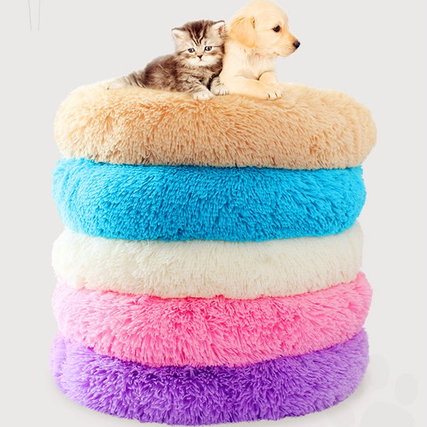 Round Dog cat Bed pet nest Washable Pet Cat House Dog Breathable Lounger Sofa deep sleep cat litter kennel Super Soft Plush Pads