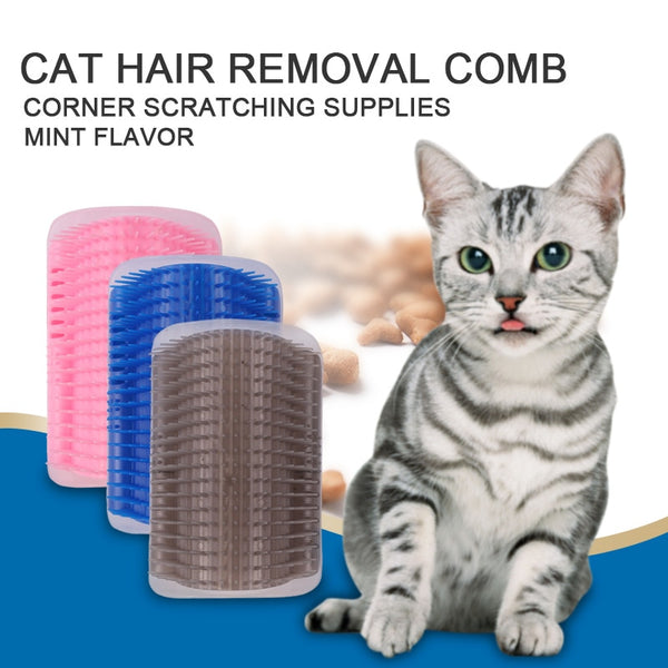 Corner Pet Brush Comb Play Cat Dog Plastic Scratch Bristles Arch Massager Self Grooming Cat Dog Scratcher