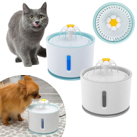 Cat Automatic Feeder Drink Filter Automatic Cat Water Fountain For Pets Water Dispenser Large Spring Drinking Bowl