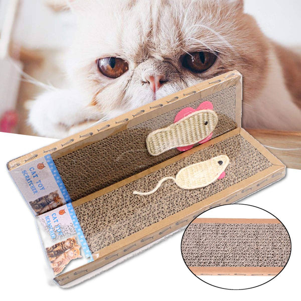 Pad Corrugated Paper Cat Scratcher Cat Kitten Scratch Board Soft Bed Mat Claws Care Pet Toys Scratching Post Toys Rat/Fish Type