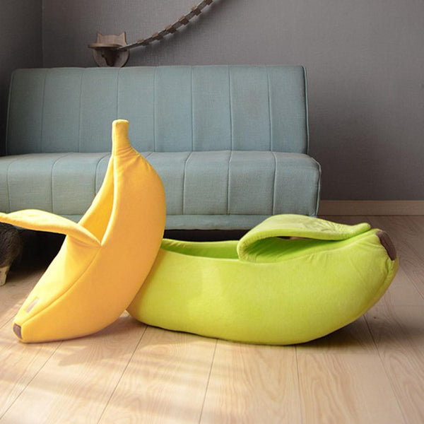 Cat Beds Banana Peel Cat House Cute Looking Banana Cat Bed & Kittens Soft Padding While Pet Nest Warm House