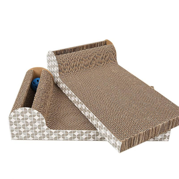 Cat Scratcher Cat Scratch Board Paper Corrugated Cat Toy Pet Claw Kitten Climbing Claw Pet Catch Toy Interactive Training Toy