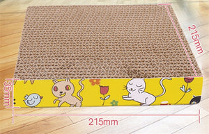 Cat Scratch Board 3 Shape Cat Toy Big-size Double-sided Durable Pet Scratcher Pad Bed Mat with Catnip Toy Claw Care