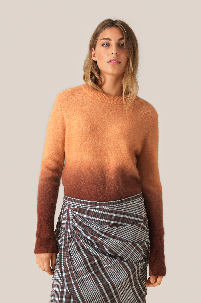 Brook Knit Gradient O-Neck