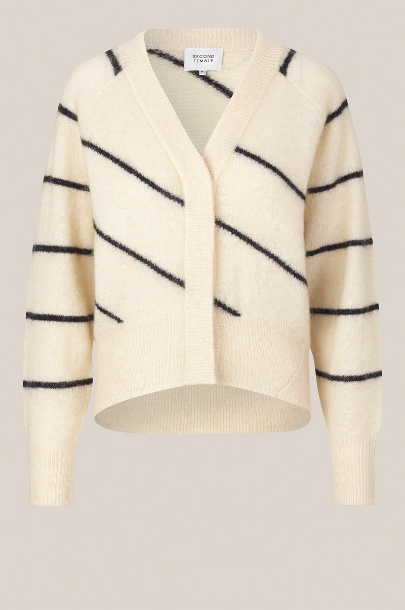 Brook Knit Striped Boxy Cardigan
