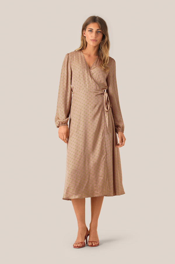 Berri LS Wrap Dress