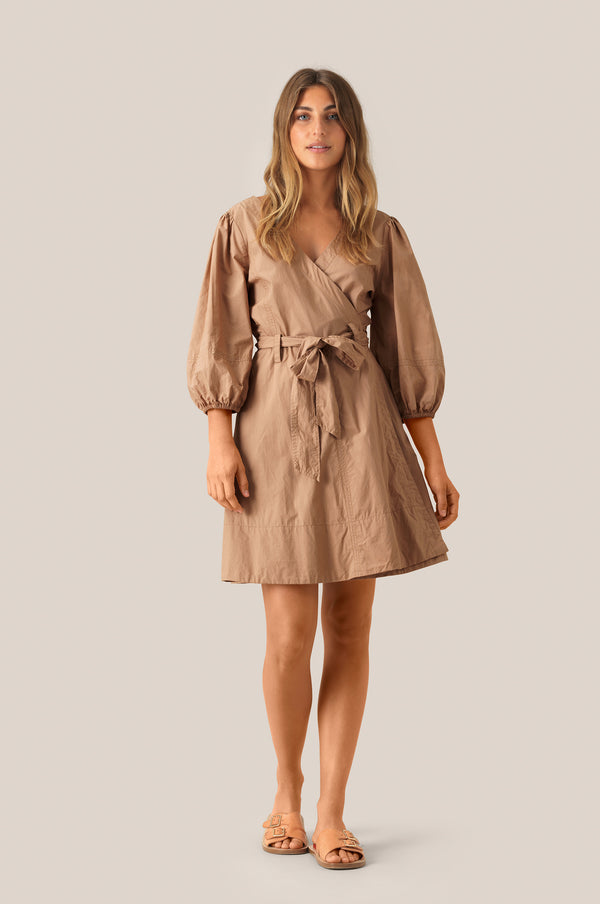 Phoebe Wrap Short Dress