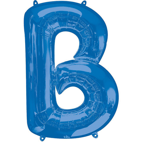 34in Blue Letter Balloon