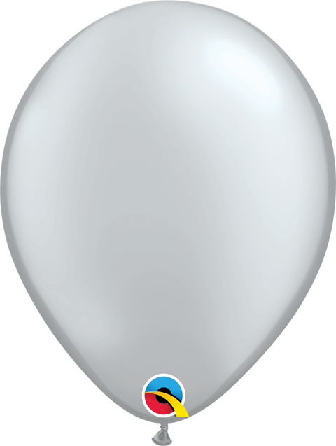 "12"" Pearl Silver Latex Balloon"