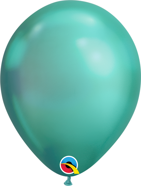 "12"" Metallic Green Latex Balloon"