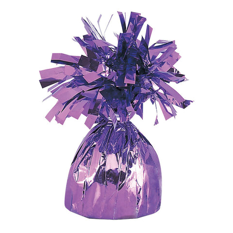 small lavender foil balloon weight to hold balloon bouquets
