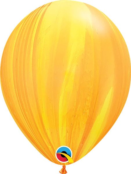 "12"" Yellow Agate Latex Balloon"