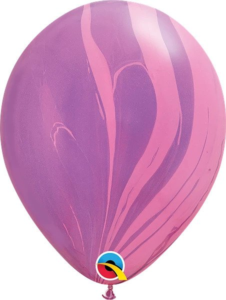 "12"" Pink & Violet Agate Latex Balloon"