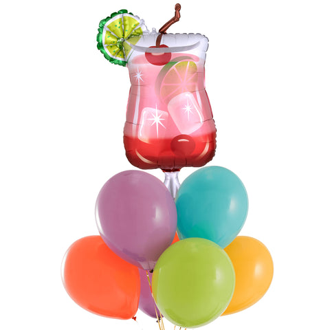 Pink Cocktail Balloon Bouquet
