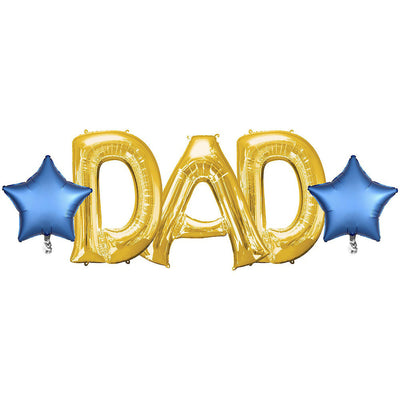 Dad Letter With Star Balloons