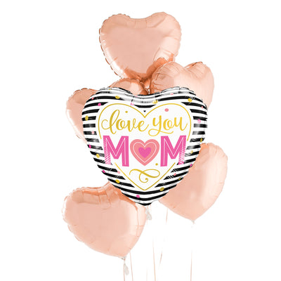 Love You Mom Heart Bouquet