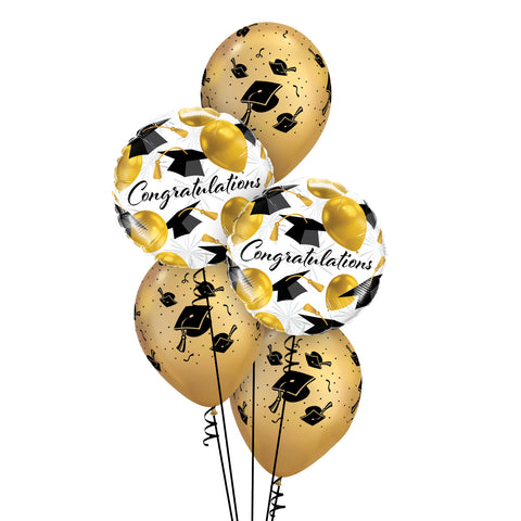 Gold Congratulations Balloon Bouquet