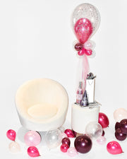 Pink Birthday Balloon Centerpiece