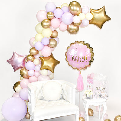 Pink, Lilac and Gold Balloon Garland