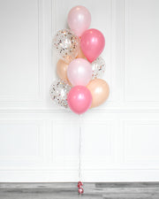 Confetti Balloon Bouquet - Candy Pink, Pastel Pink,  Blush