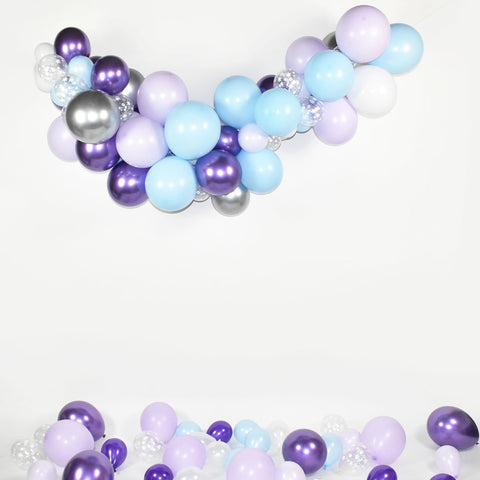 Purple and Blue Balloon Garland