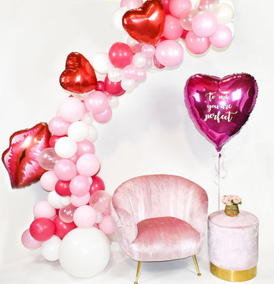 Pink, Red and White Balloon Garland