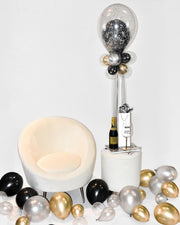 Black & Gold Birthday Balloon Centerpiece