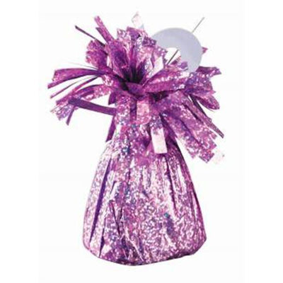 small light pink foil balloon weight to hold balloon bouquets