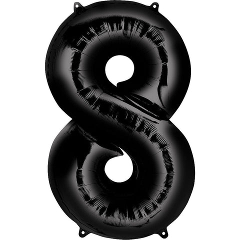 Black Number Balloon 34in