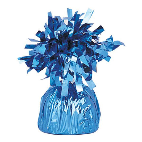 light blue foil balloon weight to hold bouquets down to the ground
